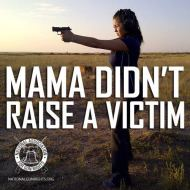 Women and handguns go together because a women is considered a soft target and predators try to make it easy for themselves. Do what you can to make it harder by being an armed citizen.